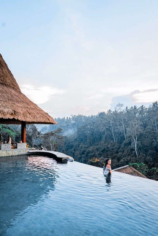 The Viceroy Bali main pool area overlooking the tropical jungle