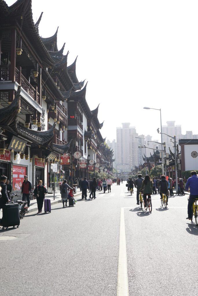 Main street in Old City Shanghai