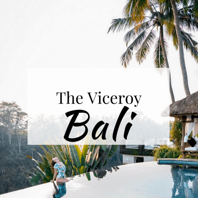 The Viceroy Bali pool area at sunrise