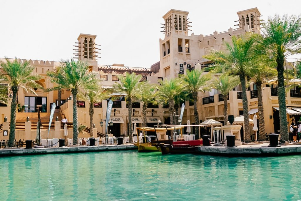 Abra's parked near the Madinat Jumeirah