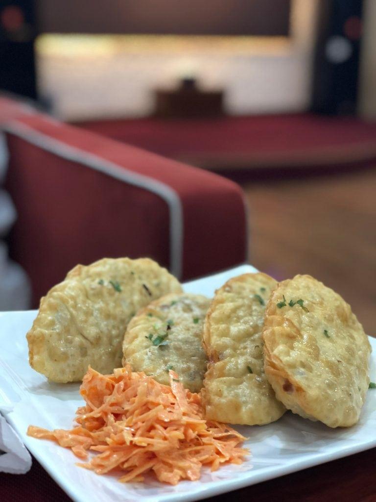 Traditional Mongolian food: khuushuur (fried dumpling)