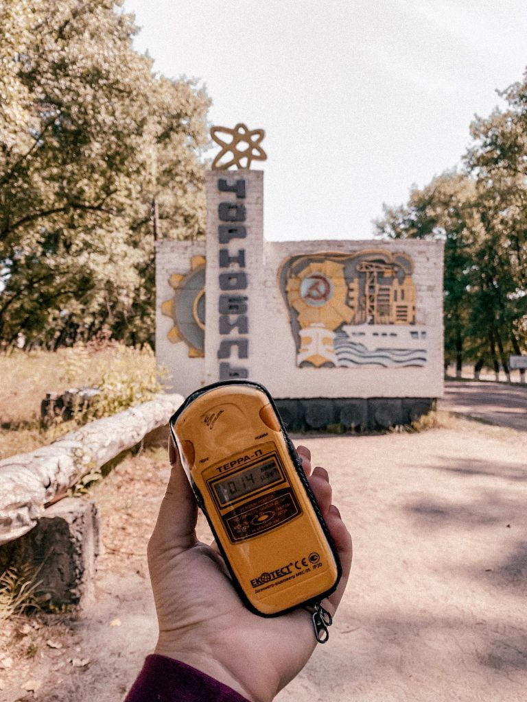 The dosimeter shows the level of radiation at any given time during the Chernobyl Exclusion Zone Tour