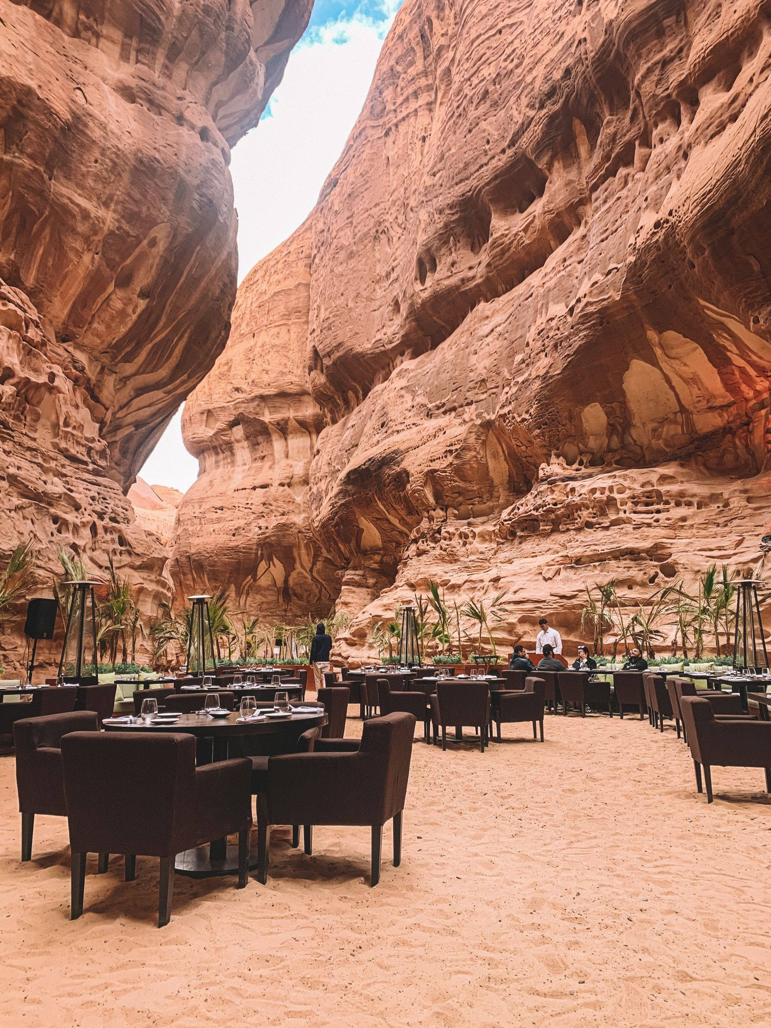 Restaurant in the mountains in Al-Ula Saudi Arabia