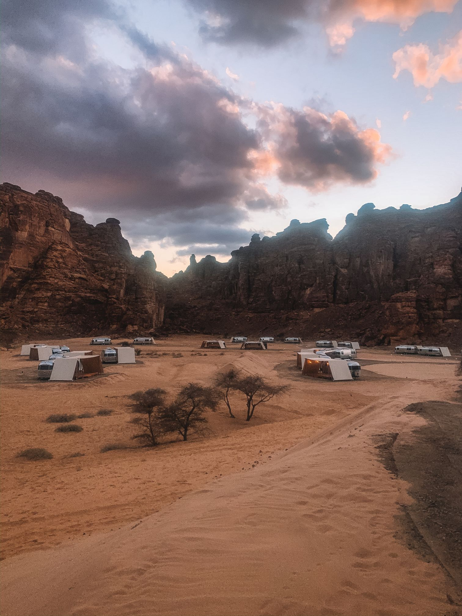 RV Camp hotel in Al-Ula Saudi Arabia